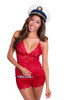 Hip Length Red Camisole Chemise