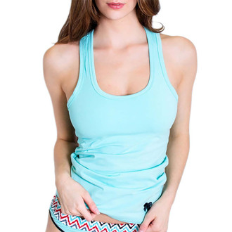 Womens Light Turquoise Tank Top