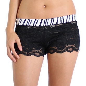 Black Pearls over Black Lace Boxers