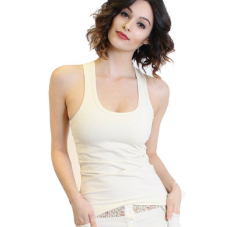 Ivory Racer Back Tank Top