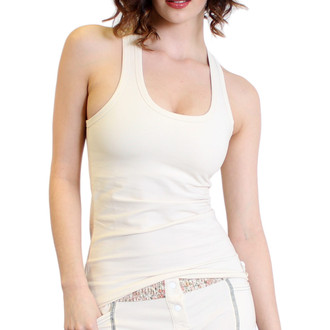 Ivory Athleisure Tank Top with built in bra.