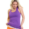 Women's Purple Tank Top with built in bra