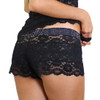 Women's black lace boxer short
