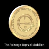 The Archangel Raphael Medallion      The Archangel Raphael Medallion is a conduit for the power of this Great Healer.  It may be used as a healing tool by laying it on the body or on a picture.  Prayers for healing and growth are empowered many fold by using this medallion while praying.  The Archangel Raphael is the Angel of Miraculous Healing.  His Consciousness is the Healing Power of The Creator in Form.  Praying to this Archangel is the act of summoning the direct healing power of God himself. Each dot on the face of the medallion is a seed of spiritual DNA that is responsible for the healing power contained within the medallion.  The Sigil of Raphael is contained within the center of the medallion.  This is our most powerful healing medallion.    Price: $300.00