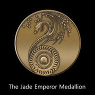 """The Jade Emperor Medallion     The Jade Emperor is one of the most powerful beings in the universe. He is the director and chairman of the Celestial Treasury and it is said that all forms of wealth pass through his hands.  He is very benevolent and kind. His power is available for us to use but we must avail ourselves of the correct spells.   Ordinary people treated most gods with a mixture of awe and an interest in negotiation. The gods were prayed to and worshipped, but they could also be bribed and appeased with offerings and gifts. The gods sometimes left Heaven to visit the Earthly Domain, and though they were not supremely powerful, they did have the power to help and hurt people in the Earthly Domain. The gods also had their foibles and could be capricious and get angry. One had to take care to not agitate the gods and work hard to remain on their """"good side.""""  The Jade Emperor Medallion will allow humans to have access to the benevolence and power of this important ruler.   This is our very first Jade Emperor Medallion and it is imbued with his power and grace.  The medallion will be charged with his blessing and will also carry his magic and dragon power.  This is truly a special item.  You may wear the item or place it on your altar.  Both are powerful methods of connecting with his power.  The medallion is designed to work with the Jade Emperor spell book and will add power to each of the spells bearing his seal.  The medallion will also work on its own without the book of spells.      Price: $300"""