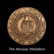 """The Abraxax Medallion        Abraxax is the earliest known form of the God Djanthi Thoth. In Ancient Egypt, He was the Creator God and guided early man to higher civilization. Abraxax is the name given by early Gnostic Christians to denote the embodied Form of God. In the language of the Gnostics, God represents fullness. God is the source of all being and form. If a God were to materialize in the temporal world, we would have to give him a conceptual label and name. Gnostics gave this Label the name Abraxax.     Abraxax can provide us with a definition of God for the future. It will be as if Abraxax far from being a forgotten idea of the past was really a powerful and correct interpretation of God, waiting for the right moment to emerge and become more widely known again.     We met the God Abraxax about two years ago. We studied him and recently he revealed himself to Be one of the most ancient Egyptian Gods. He has helped us in many ways with our business, health, and manifesting money.     This invocation was spoken into existence by both Acharya and Myself. It combines the Spiritual Power of two Masters to invoke The God Abraxax into your life. The power that he brings is real. We have witnessed it. We hope you will try it for yourself.     The Abraxax Medallion helps you connect with the full power of The God.  You will feel his presence more acutely and when you say the invocation while wearing the medallion, you will feel his protection.     More about The God Abraxax        Throughout the various beliefs associated with Abraxas, he was often described as having the head of a lion or in some cases a cock, which at times bore a royal crown, along with a dragon's tail, and serpents in lieu of legs. There are many interpretations attached to the word """"Abrasax"""".   According to the """"Basilidians"""", he was the Supreme God, for the Greek letters that forms his name adds up to the number of 365, which according to their beliefs in turn corresponds to the number of day"""