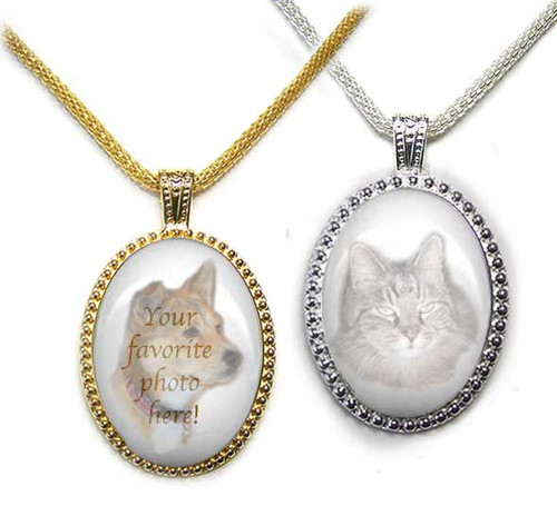 Ornate Pet Memorial Pendant Necklace