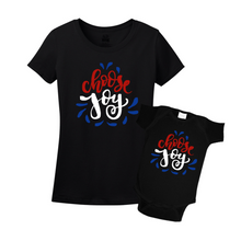 Mommy & Me Black/Red-White Set - Choose Joy