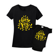 Mommy & Me Black/Yellow Set - Choose Joy