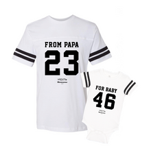 Daddy & Me Football White Set - Chromosomes