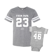 Daddy & Me Football Gray Set - Chromosomes