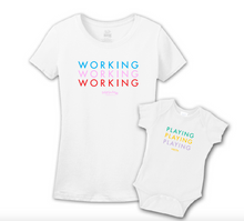 Mommy & Me White Set - Working
