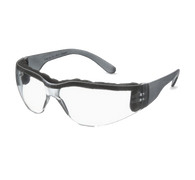 Foam Safety Glasses, Gray Temple, Clear Anti Fog Wraparound Lens (46FM78)