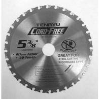 "Tenryu Cord-Free 5-3/8"" 32 Teeth 20mm Arbor"