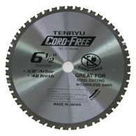 "6 1/2"" Cord-Free Steel Cutting Blade"