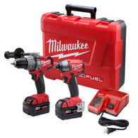 M18 FUEL™ LITHIUM-ION 2-Tool Combo Kit + Free  18v Fuel Grinder