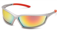 4x4 Sport Red Mirror Safety Glasses