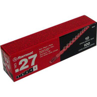 .27 Cal Red Strip Fastener Load (100 Loads/Box)