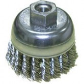 "2 3/4""x5/8-11 Knotted Wire Cup Brush Stainless Steel"