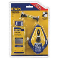 Irwin Speedline 100' Chalk Reel with Line Level and 4oz BLUE Chalk