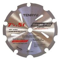 """Tenryu 7 1/4"""" x 7T Board-Pro Fiber Cement Blade"""