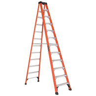 Fiberglass Step Ladder Heavy Duty 375# - 12'