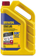 Irwin STRAIT-LINE Permanent Marking Chalk, Dark Red, 4lbs