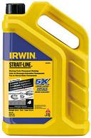 Irwin STRAIT-LINE Permanent Marking Chalk, Black, 4lbs