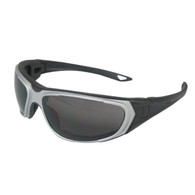 ERB NT2 Safety Glasses - Gray Frame - Smoke Anti-Fog Lens