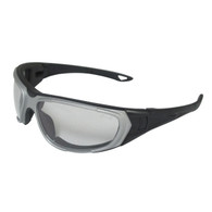 ERB NT2 Safety Glasses/Goggles - Gray Frame - Clear Anti-Fog Lens
