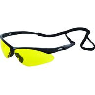 ERB Octane Safety Glasses Black/Amber