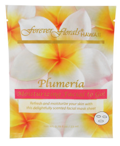 Forever Florals Hawaii Plumeria Facial Face Mask 0.78oz
