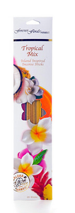 Forever Florals Tropical Scented Incense Assorted Pack - Plumeria, Coconut, Papaya, Mango