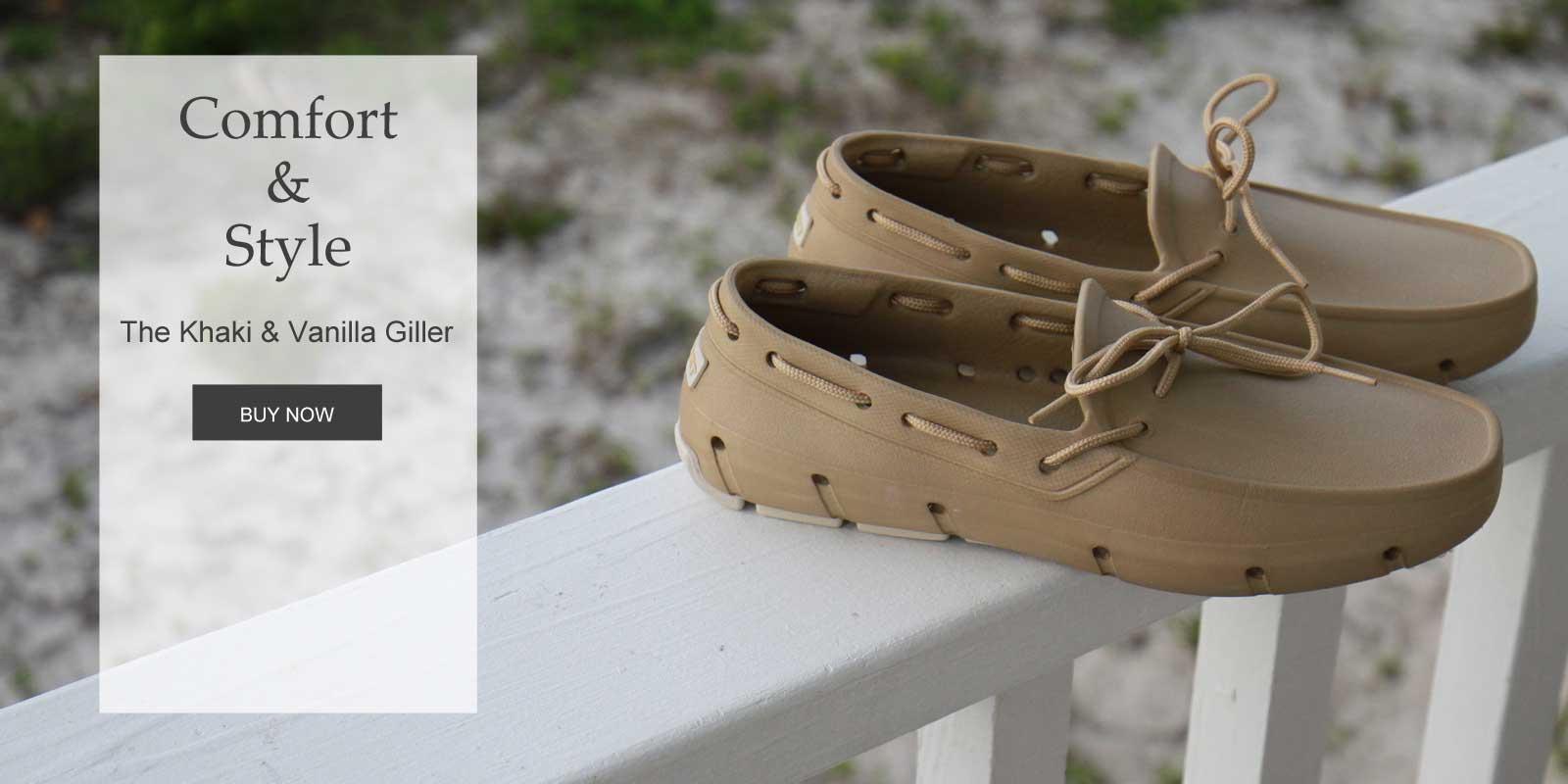 Men's Khaki Boat Shoe Tucket Giller