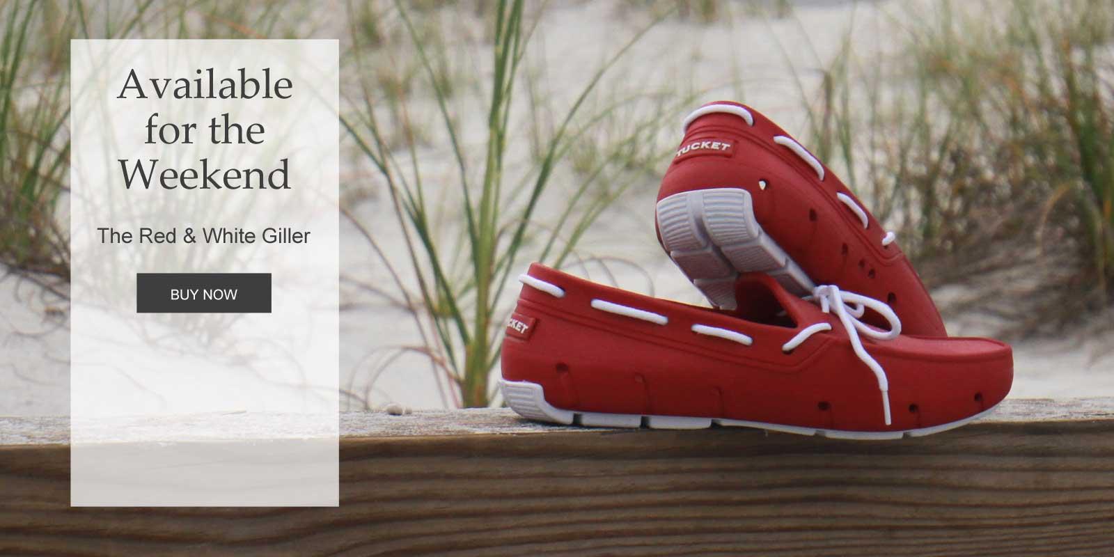 Men's Red Boat Shoe Tucket Giller