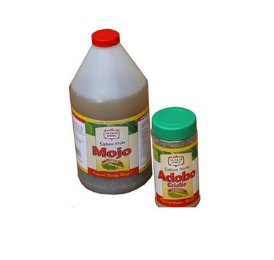 La Caja China Mojo Criollo 1/2 Gallon & La Caja China Adobo Seasoning 12 oz. package deal
