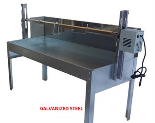 Galvanized Steel 80 lbs Rotisserie w/ Windshield - Latin Touch
