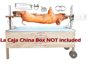 La Caja China Whole Pig, Lamb Rotisserie