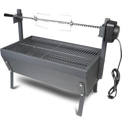 "Stainless Steel Spit Rod Rotisserie 28"" (Angle) - Latin Touch"