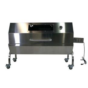 25W Stainless Steel Rotisserie Grill Roaster w/Glass Hood