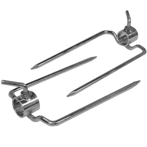 "Pair of Rotisserie Forks for 1"" Round Spit Rod"