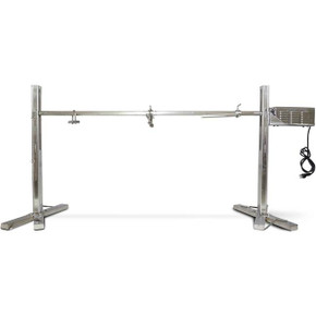 Stainless Steel Spit Rotisserie Roaster Stand 125LB Capacity BBQ Grill