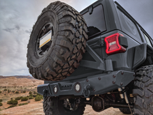 JL Tire Carrier, Bare Steel