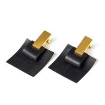 Gold Square Earrings