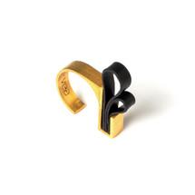 Gold Slim Winged Ring