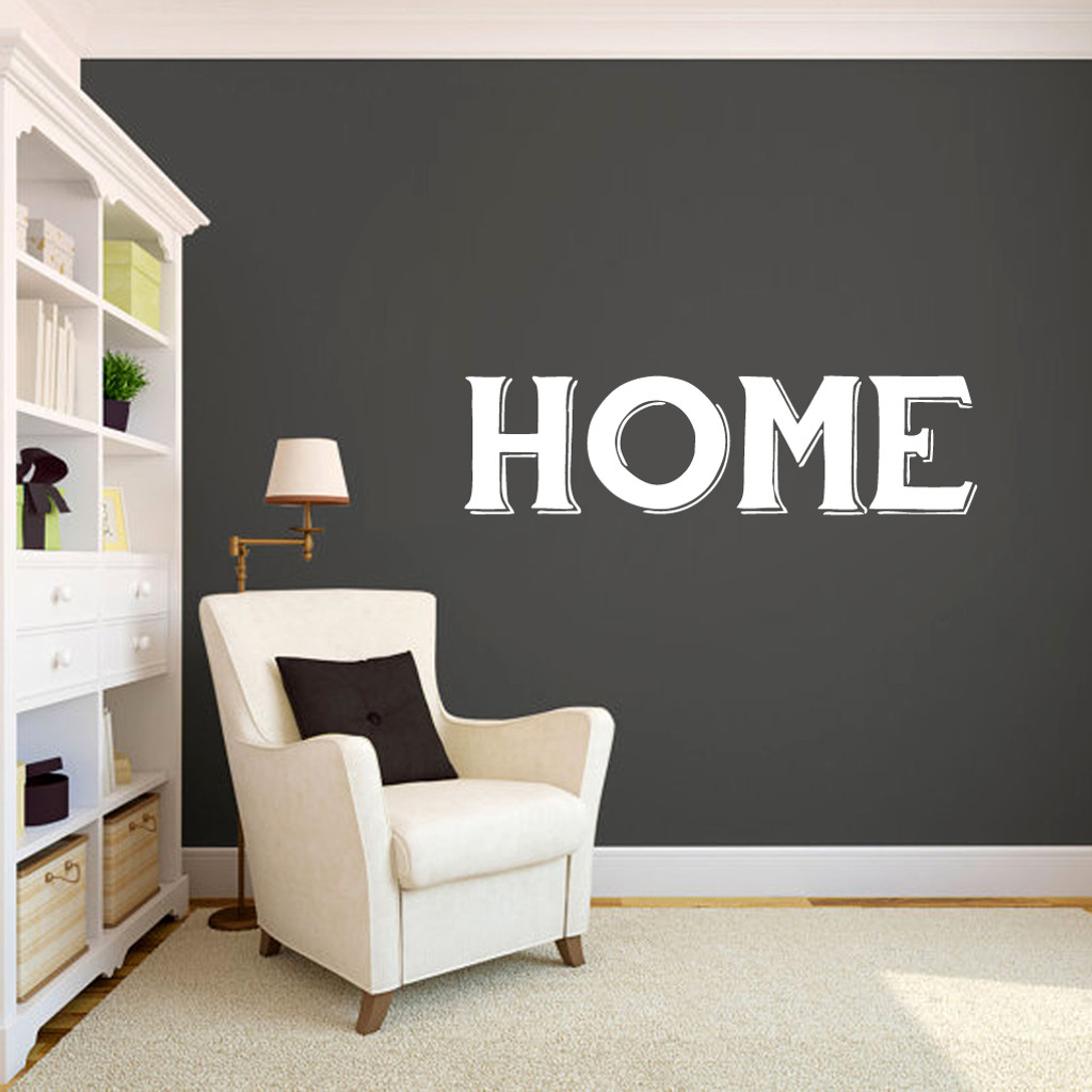 """Home Wall Decals 48"""" wide x 13"""" tall Sample Image"""