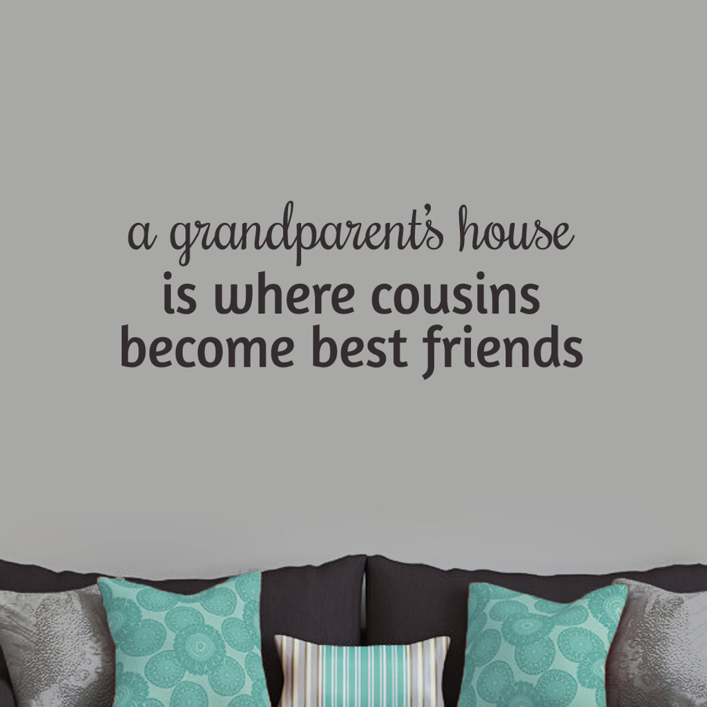 """A Grandparent's House Wall Decals and Stickers 36"""" wide x 14"""" tall Sample Image"""