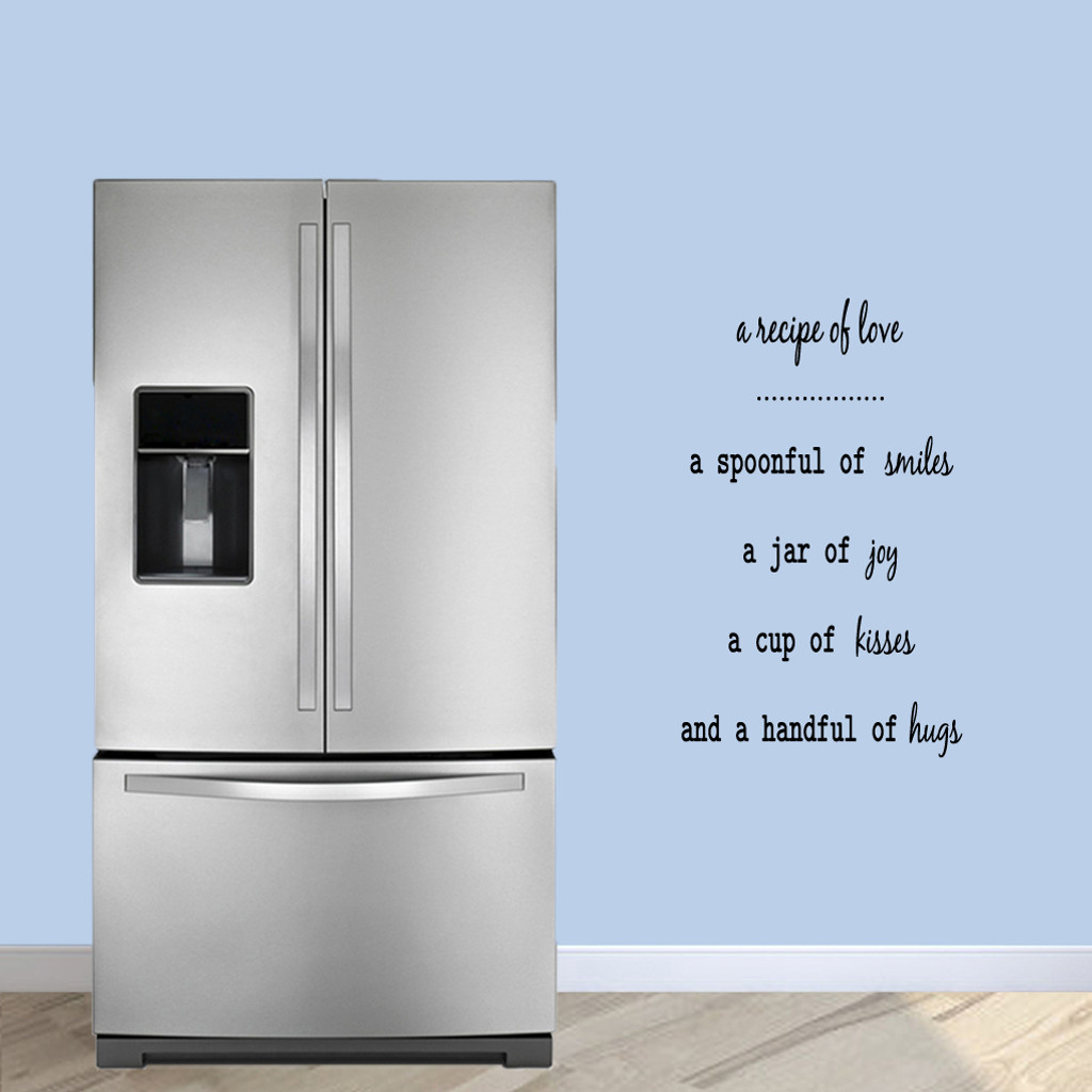 """A Recipe Of Love Wall Decals 22"""" wide x 36"""" tall Sample Image"""
