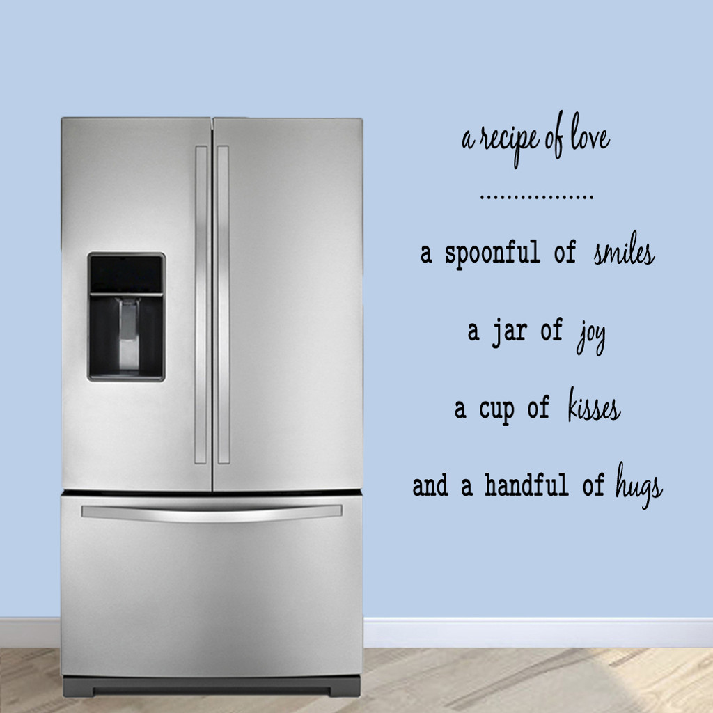 """A Recipe Of Love Wall Decals 30"""" wide x 48"""" tall Sample Image"""