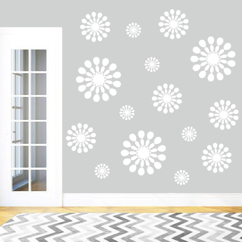 Abstract Circles Wall Decals Wall Stickers Sample Image
